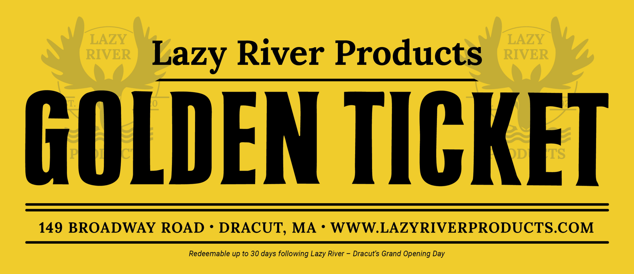 Lazy River Products Golden Ticket